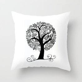 Sitting on a branch Throw Pillow
