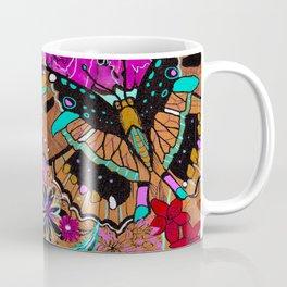 Neon Butterflies Coffee Mug