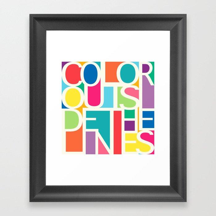 Outside The Lines Framed Art Print