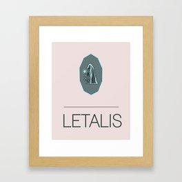 letalis logo Framed Art Print