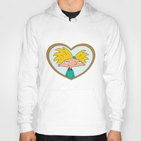 hey arnold Hoodies featuring HEY ARNOLD! by SaladInTheWind