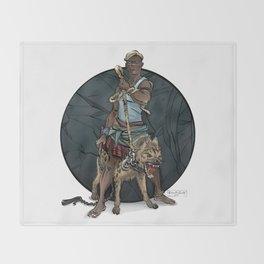 African Thug Throw Blanket