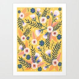 Sunshine florals Art Print