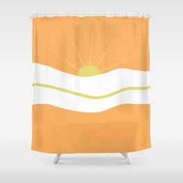 """ Orange days "" Shower Curtain"