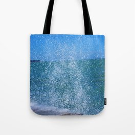 Lake Michigan Natural Fountains #2 (Chicago Waves Collection) Tote Bag