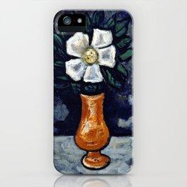 Marsden Hartley White Flower iPhone Case