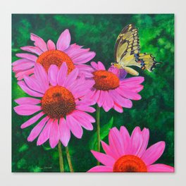 A Visitor In The Garden by Teresa Thompson Canvas Print
