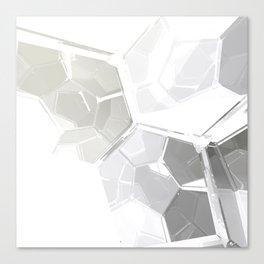 White Fractal Canvas Print