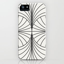 Diamond Series Inter Wave Charcoal on White iPhone Case