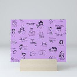 Gilmore Girls Quotes in Purple Mini Art Print