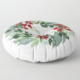 Holly Berry Floor Pillow