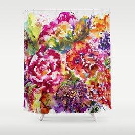 Watercolor Garden II Shower Curtain