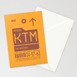 Baggage Tag C - KTM Kathmandu Tribhuvan Nepal Stationery Cards