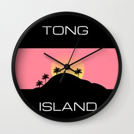 Tong Island Wall Clock