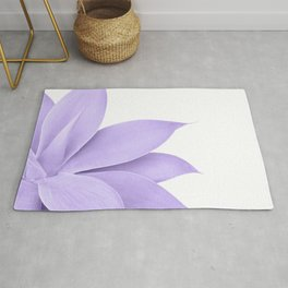 Agave Finesse #9 - Ultra Violet on White #tropical #decor #art #society6 Rug