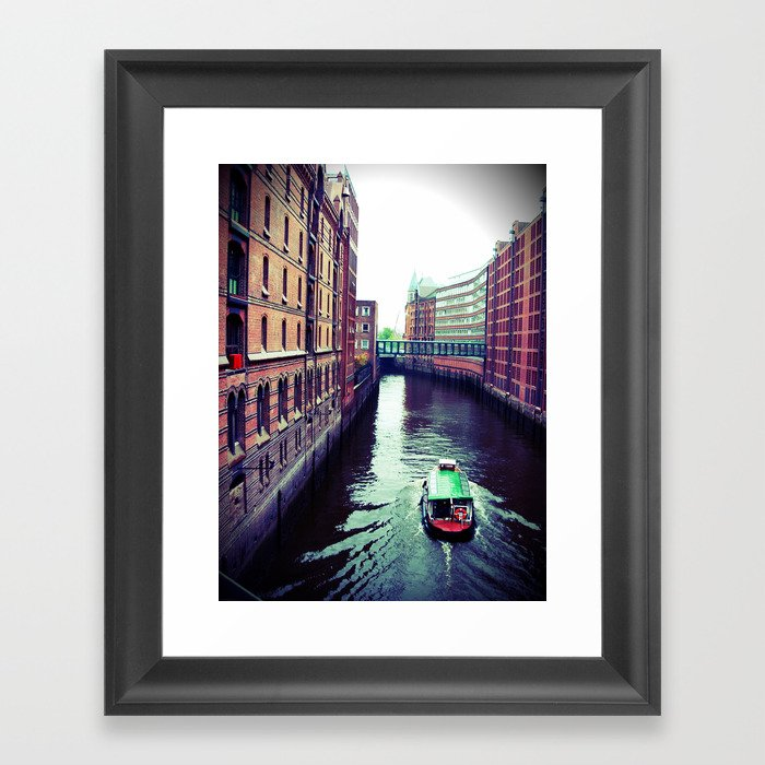 Hamburg or Venice? Framed Art Print