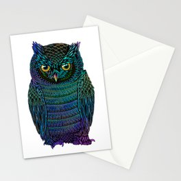 Neon Owl Stationery Cards