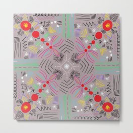 Magic paths pattern Metal Print