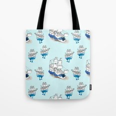 Ships Pattern Tote Bag