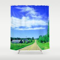 country Shower Curtains featuring Country Road by J&C Creations