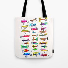 All the Fishing Lures - Illustration  Tote Bag