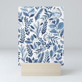 indigo scatter Mini Art Print