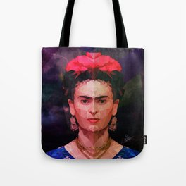 FRIDA KAHLO GEOMETRIC PORTRAIT Tote Bag