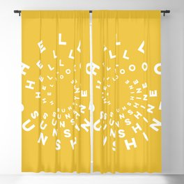 Hello Sunshine #minimal #typography #summervibes Blackout Curtain