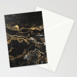 marble black and gold texture Stationery Cards