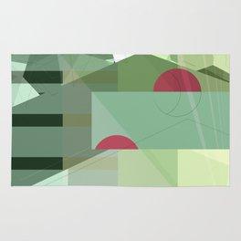 Geometric abstract green No. 1 Rug