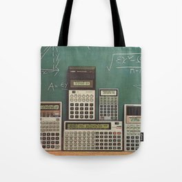 Casio Calculators...the good old days. Tote Bag