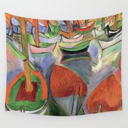 Raoul Dufy Boats at Martigues Wall Tapestry