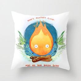 burn bacon, burn Throw Pillow