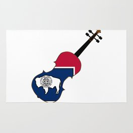 Wyoming State Fiddle Rug