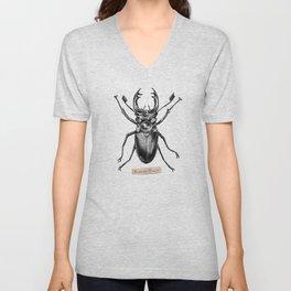 Stag Beetle - Lucanus Cervus Unisex V-Neck