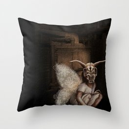 baby mothra Throw Pillow