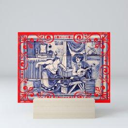 Fado portuguese folk music Mini Art Print