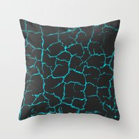 cracked Throw Pillows featuring Cracked by Last Call