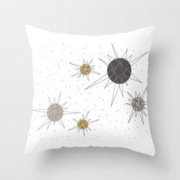 Atomic Stars Neutral Throw Pillow