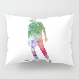 Man skateboard 08 in watercolor Pillow Sham