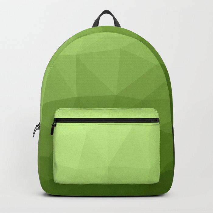 Greenery ombre gradient geometric mesh Backpack