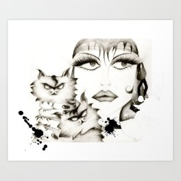 Glamour woman! Art Print