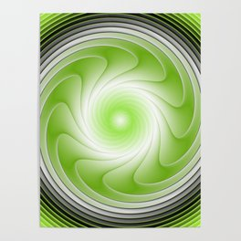 Energy, Graphic Design Green Gray Poster