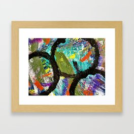 My Life Square Abstract Framed Art Print