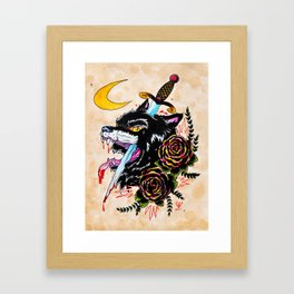 The Wolf and Dagger Framed Art Print
