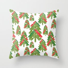 Christmas trees. Throw Pillow