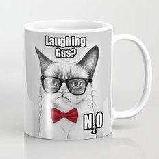 Grumpy Chemistry Cat Geek Science Meme Whimsical Animals in Glasses Mug
