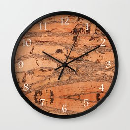 Brown cork material texture Wall Clock