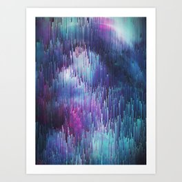Glitch Galaxy Art Print
