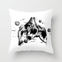 Koi Fish Space Eater Throw Pillow